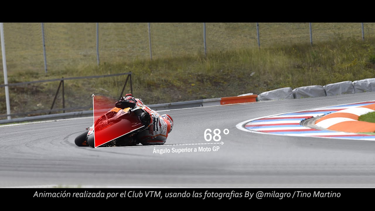 Marquez: incredibile curva a 68 gradi!