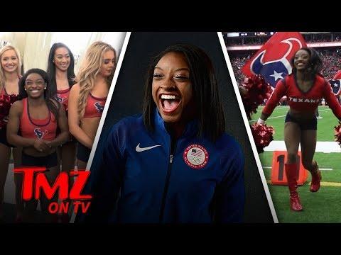 Simone Biles Is A Texan's Cheerleader Now | TMZ TV