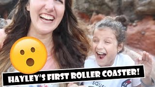 Hayley's First Roller Coaster 😲 (WK 383) | Bratayley