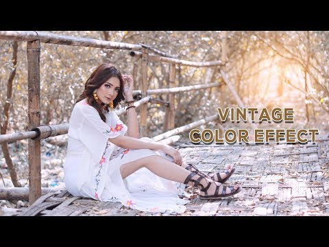 How to make Vintage effect tutorial in photoshop | srinu photo editing