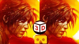 3D Shadow of the Tomb Raider TEST VR Video for Google Cardboard VR Box 3D SBS