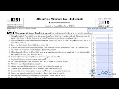 2018 - 2019 IRS Form 6251 - Editable Online Blank in PDF