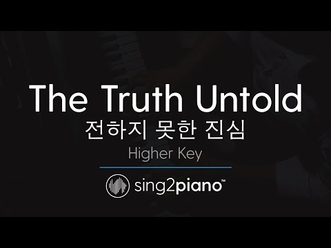 The Truth Untold (Higher Key - Piano Karaoke) BTS & Steve Aoki
