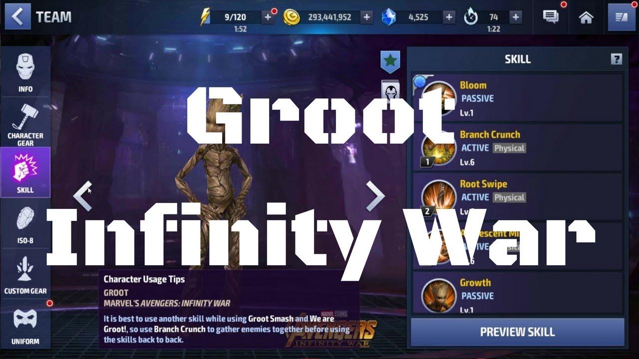 รีวิว Groot ยู Infinity War