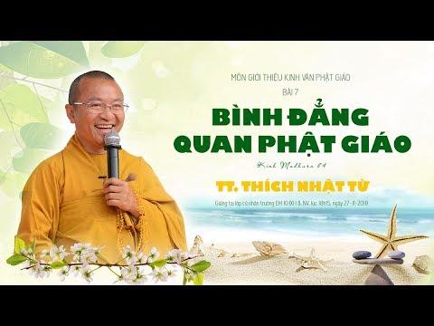 Bài 7: Bình đẳng quan Phật giáo - TT. Thích Nhật Từ
