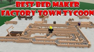 Roblox   Factory Town Tycoon: THE BEST BED MACHINE ($900 Every Few Minutes)
