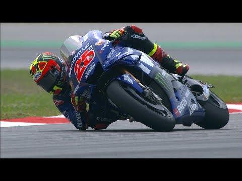 2018 Catalan GP - Yamaha in action