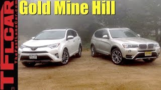 2017 BMW X3 vs Toyota RAV4 vs Gold Mine Hill Off-Road Review