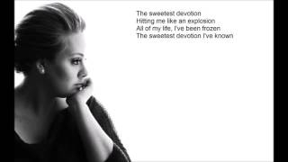 "Adele ""Sweetest Devotion"" - ((Lyrics)"