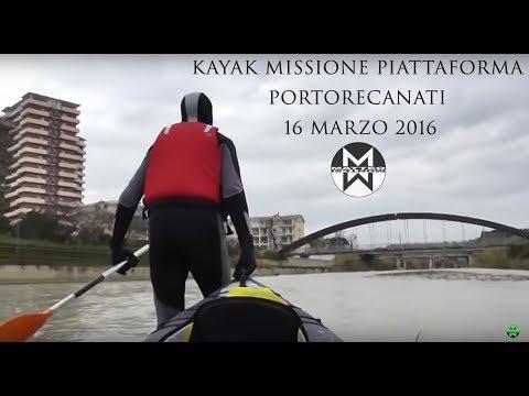 KAYAK MISSIONE PIATTAFORMA PORTORECANATI 16 MARZO 2016