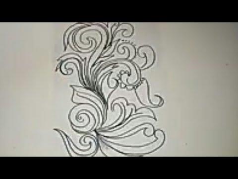 Cara Menggambar Sketsa Motif Batik Sketsa 20 смотреть онлайн