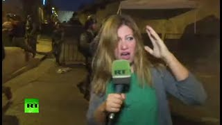 В Иерусалиме нападению израильских солдат подверглась корреспондент RT