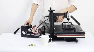 how to use 5 In 1 Digital Heat Press Machine