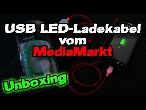 USB LED-Ladekabel vom MediaMarkt [Unboxing]