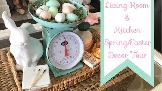Living Room And Kitchen Spring & Easter Decor Tour|2017