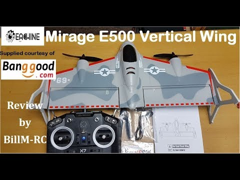 Eachine Mirage E500 Vertical Wing unboxing