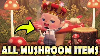 🍄 ALL 12 MUSHROOM ITEMS & How To Get Them EASY In Animal Crossing New Horizons!