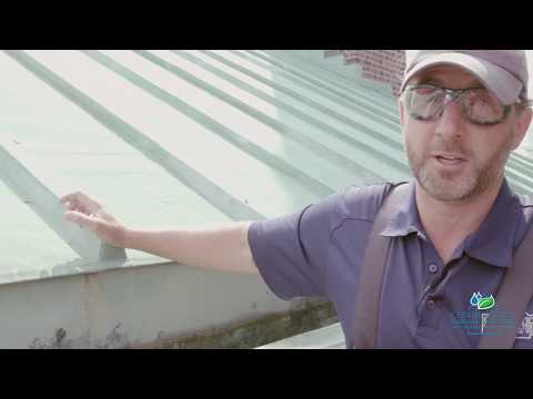 Frank Heneghan and his CT Gutter crew take us behind the scenes to show us what it's like way up on the roof and give us a short lesson on this church's architecture.