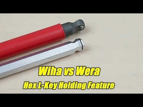 Wiha vs Wera Hex L-Key Holding Feature Comparison