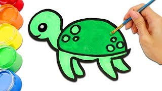 Cute Sea Animals Turtle, Fish, Octopus And More Drawing And Painting For Kids!