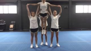 Basic Cheerleading Stunt Progression: T Hang Drill