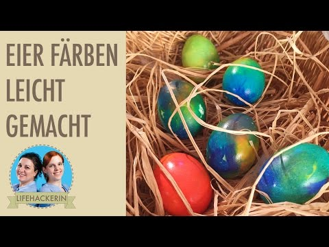 Eier färben mit Seidenpapier oder Krepppapier   Ostereier DIY