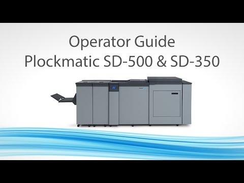 Plockmatic SD-500 / SD-350 Operator Guide Mp3