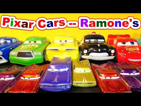 Disney Pixar Cars Ramone  AndLightning McQueen  From The Cars Character Encyclopedia