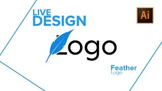 Feather Logo In Adobe Illustrator & Photoshop - Logo Design