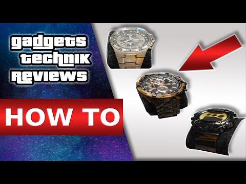 Uhrenbatterie wechseln / Batteriewechsel Uhr / Armbanduhr öffnen auch ohne Werkzeug