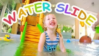 Water Slides For Kids With Spelling   Indoor Family Water Park Fun
