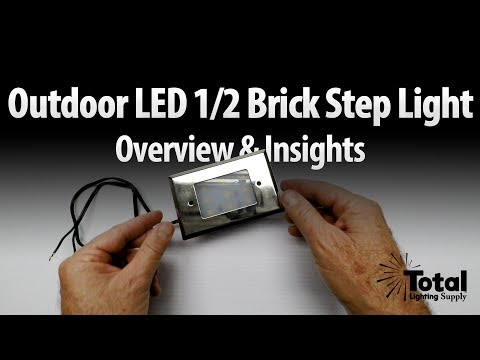 Outdoor LED 1/2 Brick Step Light Overview & Insights - Lightfair 2017 Ep.4