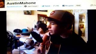 """Austin Mahone singing """"NeverSayNever"""""""
