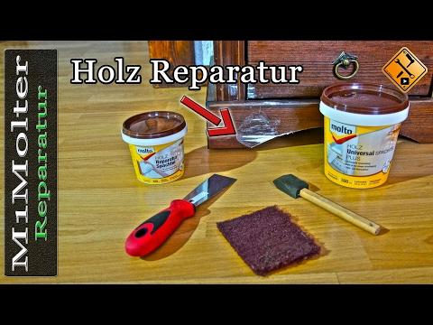 Holz reparieren und auffüllen / Holzschäden reparieren durch Spachteln  von M1Molter