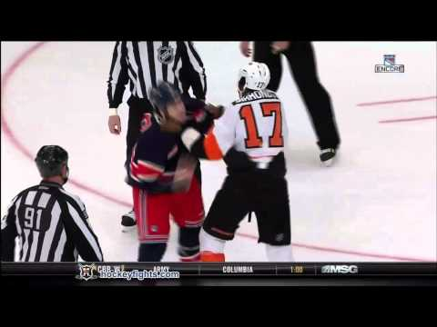 Wayne Simmonds vs Brandon Prust
