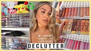 DECLUTTER! ♻️ expired lipsticks, lipglosses & liquid lips! 💕 MAKEUP ORGANISATION 2021 by Shaaanxo