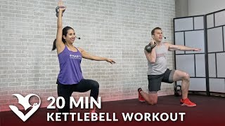 20 Minute Kettlebell Workout - HIIT Kettlebell Workouts for Fat Loss & Strength Exercises
