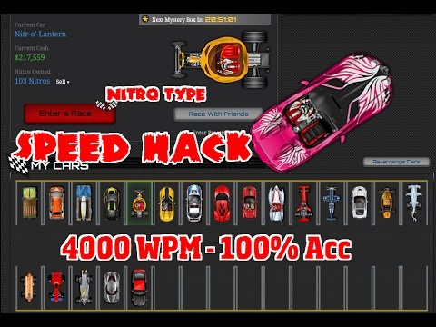 Nitro type Speed Hack - Nitro Typer 2.3 - 4000 WPM 100% Accuracy