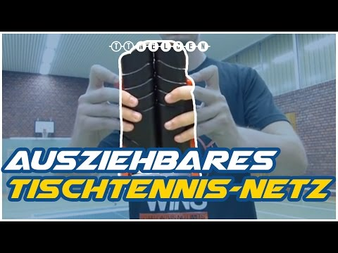 Materialcheck: Ausziehbares Netz für Hobbyspieler Indoor & Outdoor - Tischtennis Helden