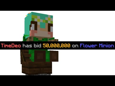 wasting 50,000,000 coins on a flower minion (hypixel skyblock)