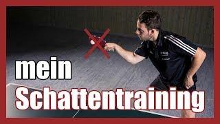 Tischtennis alleine trainieren  zu Hause  Schattentraining