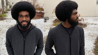 Perfect 4C Afro and Beard Tutorial