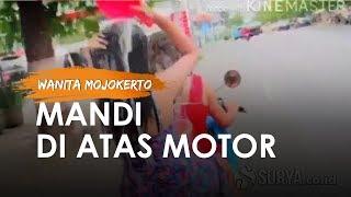 Fakta Video Viral 2 Wanita Mojokerto Keramas di Atas Motor, Berprofesi Penyanyi Dangdut