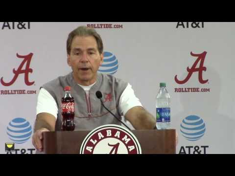 Watch Nick Saban talk about the LSU game and preparing for it