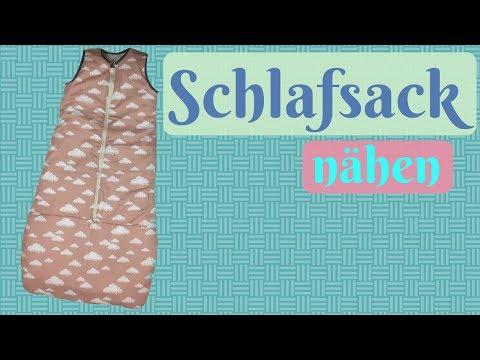 Schlafsack / Strampelsack fürs Baby nähen  - Nähanleitung für Anfänger mit kostenlosem Schnittmuster