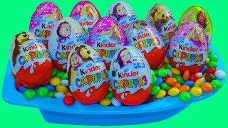 Открываем Яйца Сюрпризы с Игрушкой Пороро Распаковка Киндер сюрпризов из серии Маша и медведь Барби