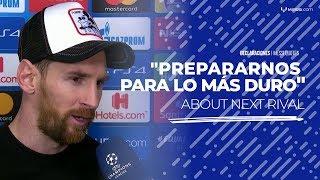 """Messi, tras el triunfo sobre Lyon: """"Todos los rivales que quedan son muy complicados"""""""