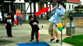 Врезать клюшкой! Как научится играть в гольф? | Лучшие Приколы со всего мира, Happy Head