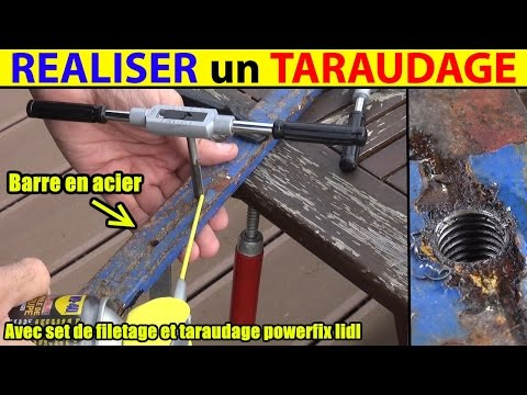 realiser un taraudage pour vis ou tige filetée set filetage lidl powerfix  - 0 - Comment tarauder ?
