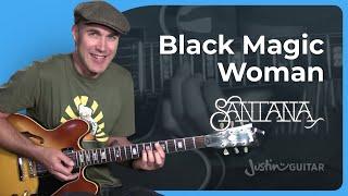 Fleetwood Mac / Santana - Black Magic Woman [RHYTHM] Guitar Lesson Tutorial - JustinGuitar